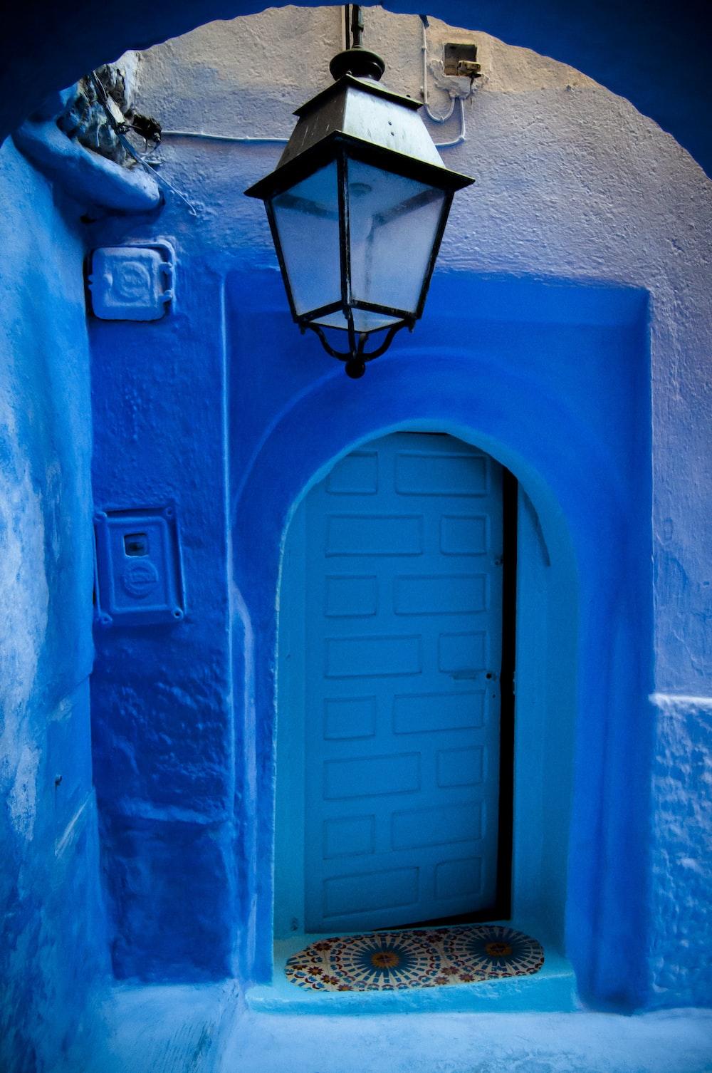 blue lights