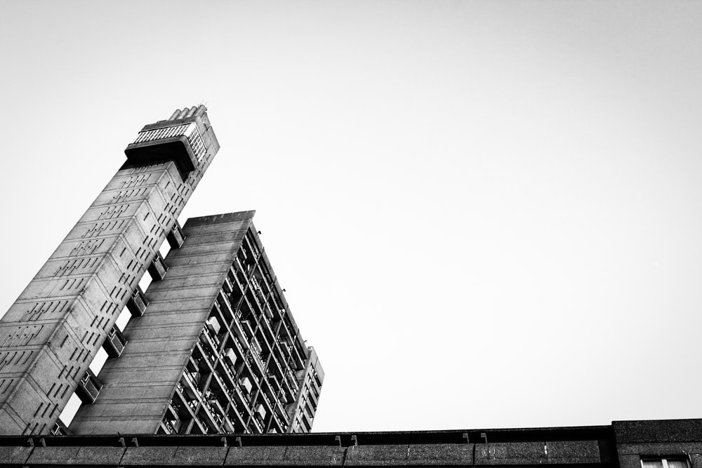 grayscale photography of concrete building during daytime