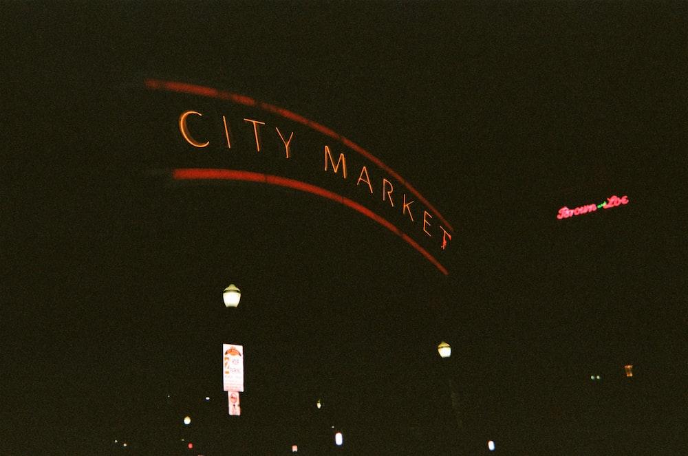 city market at night