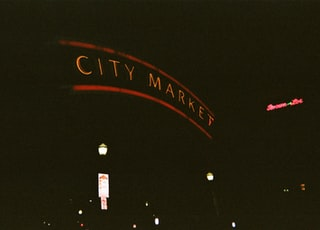 city market at night