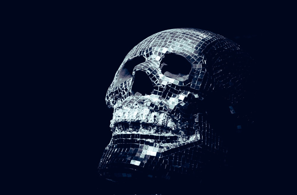 gray skull structure