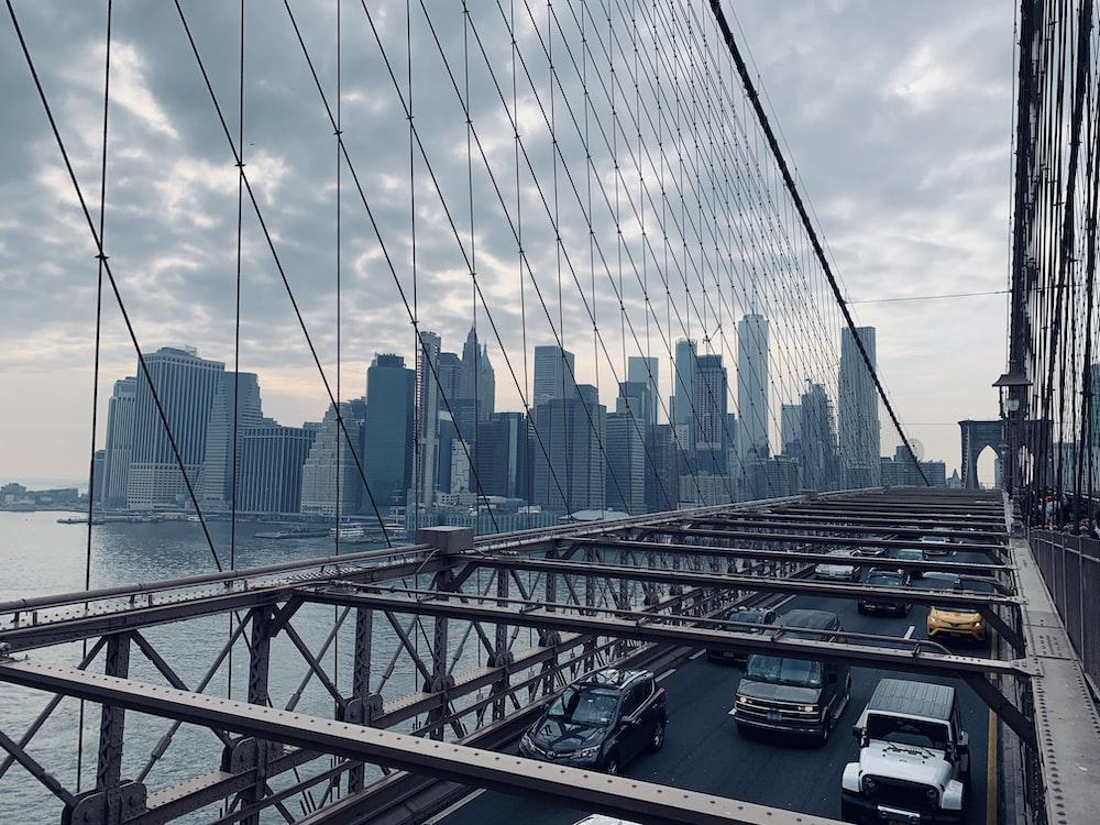 vehicles on bridge