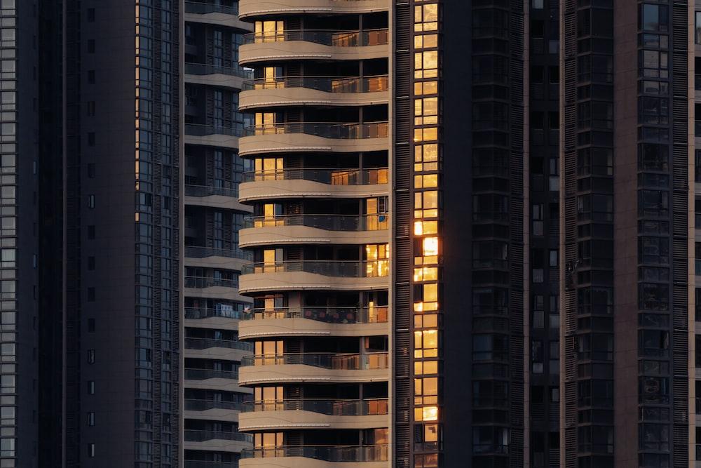 brown concrete building on focus photography