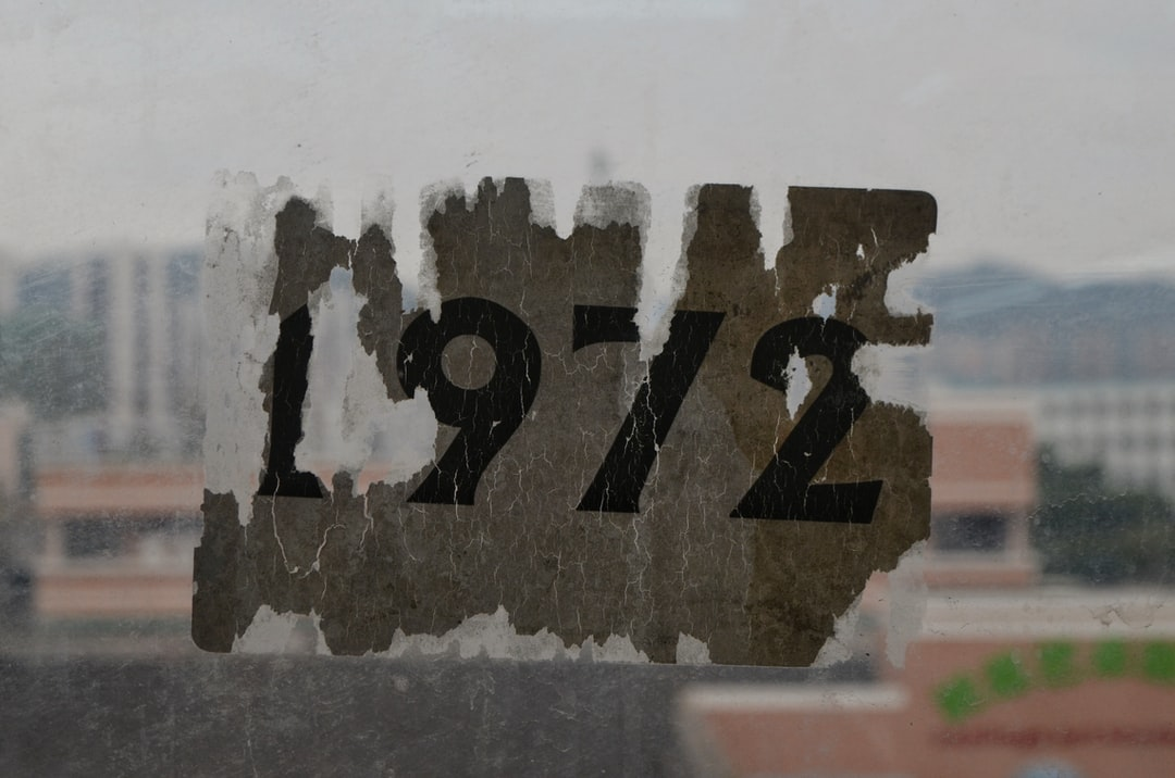 Not sure why, but this was posted on a window in a factory building in Zhongshan, a city in southern China. If you were born then or have a particular liking of the year 1972, then it'll suit you just fine, I guess
