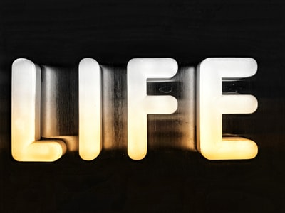 life logo word zoom background