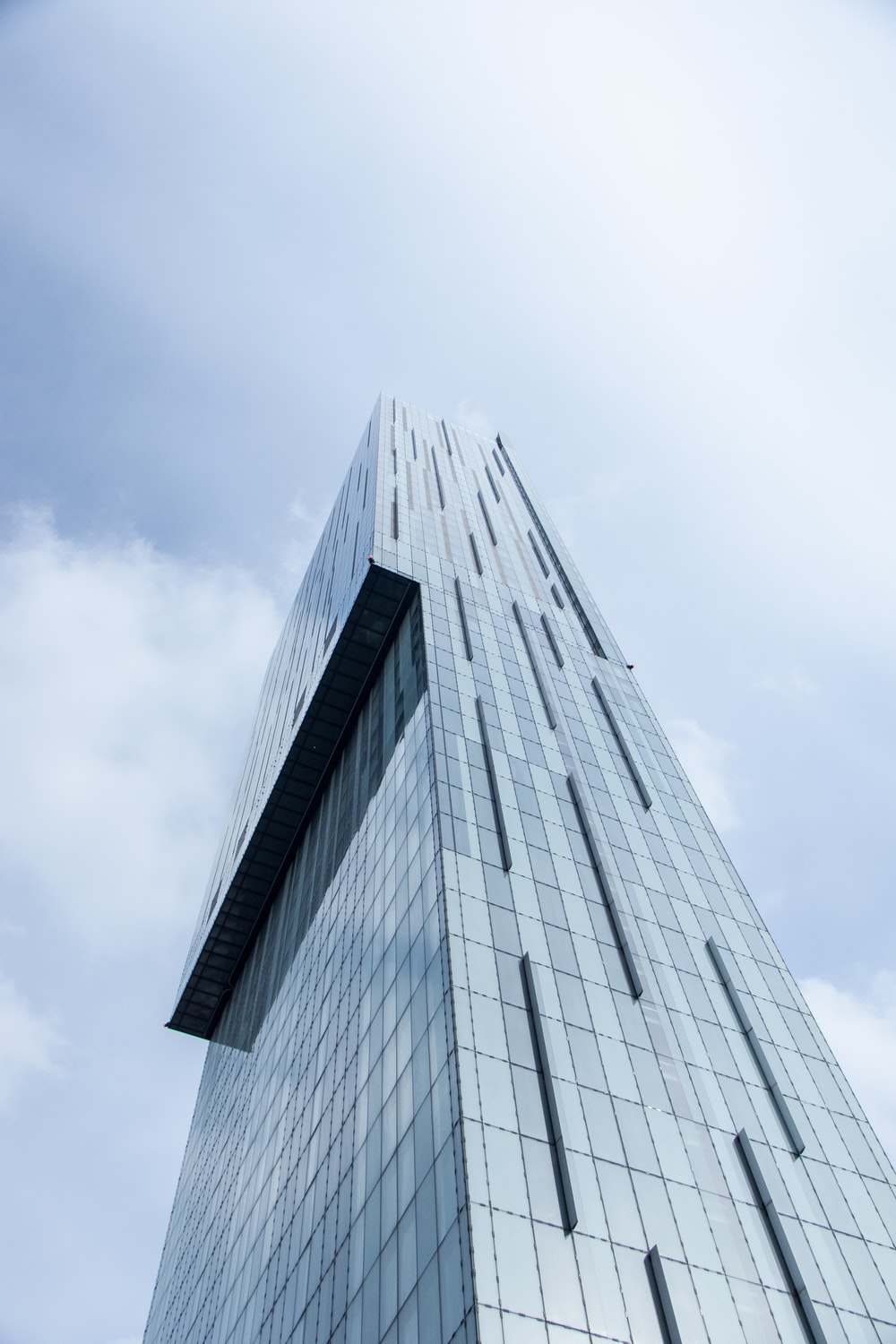 low-angle photography of building