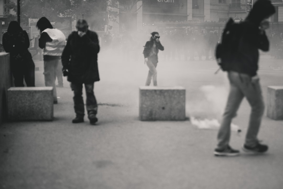 Police fires tear gas at Yellow Vest demonstrators during the 25th weekend of protests in the streets of Lyon, France.