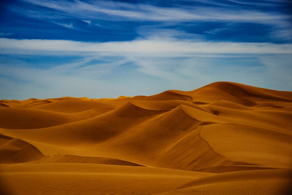 aerial photography of sand dunes