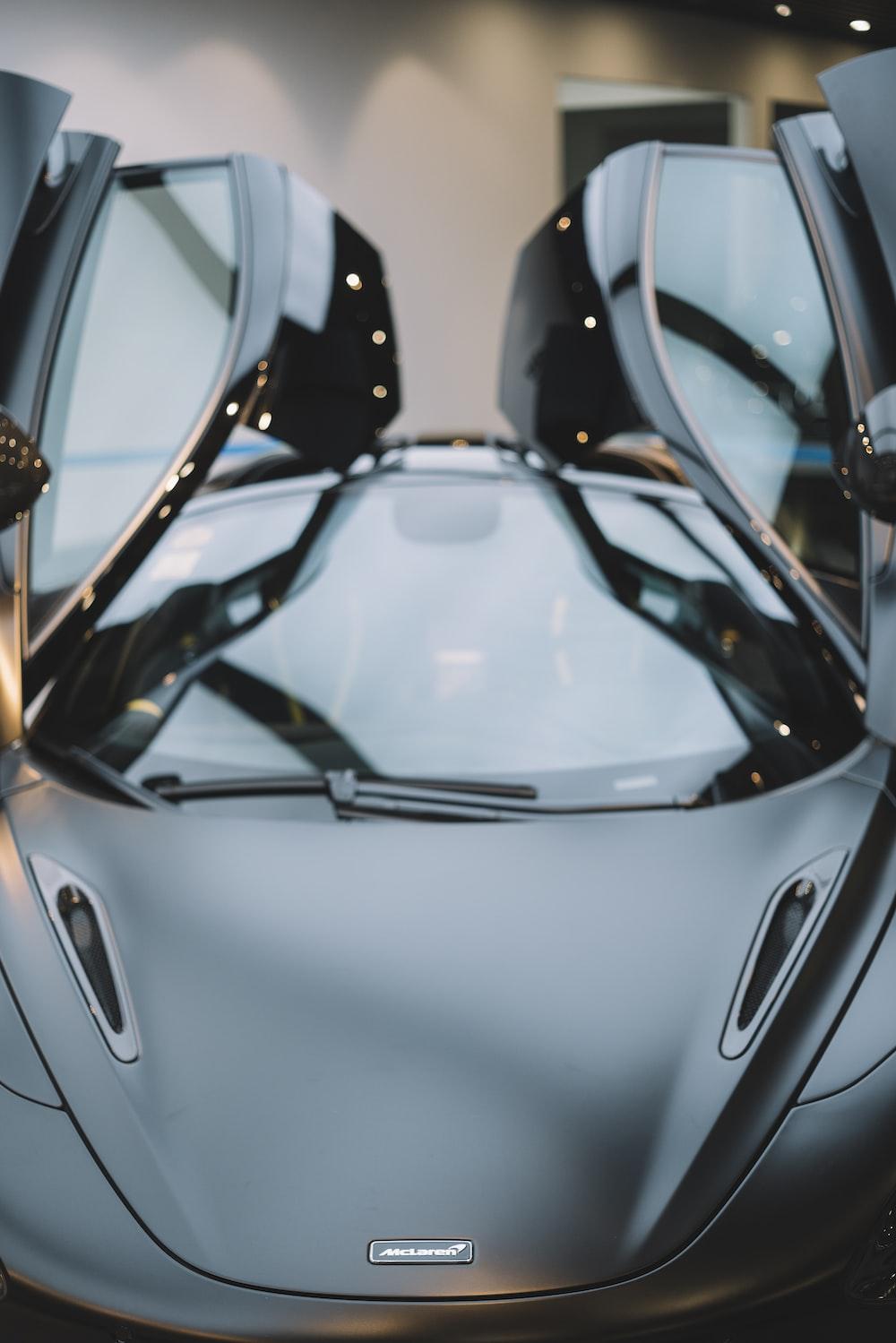 gray sports car