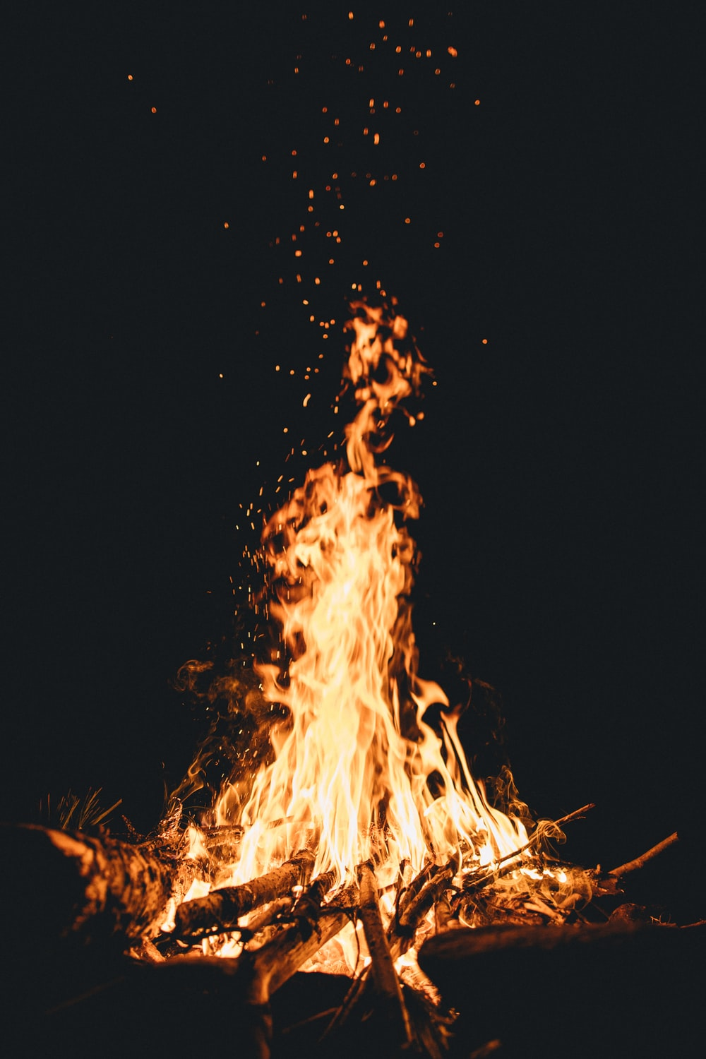 fire during nighttime