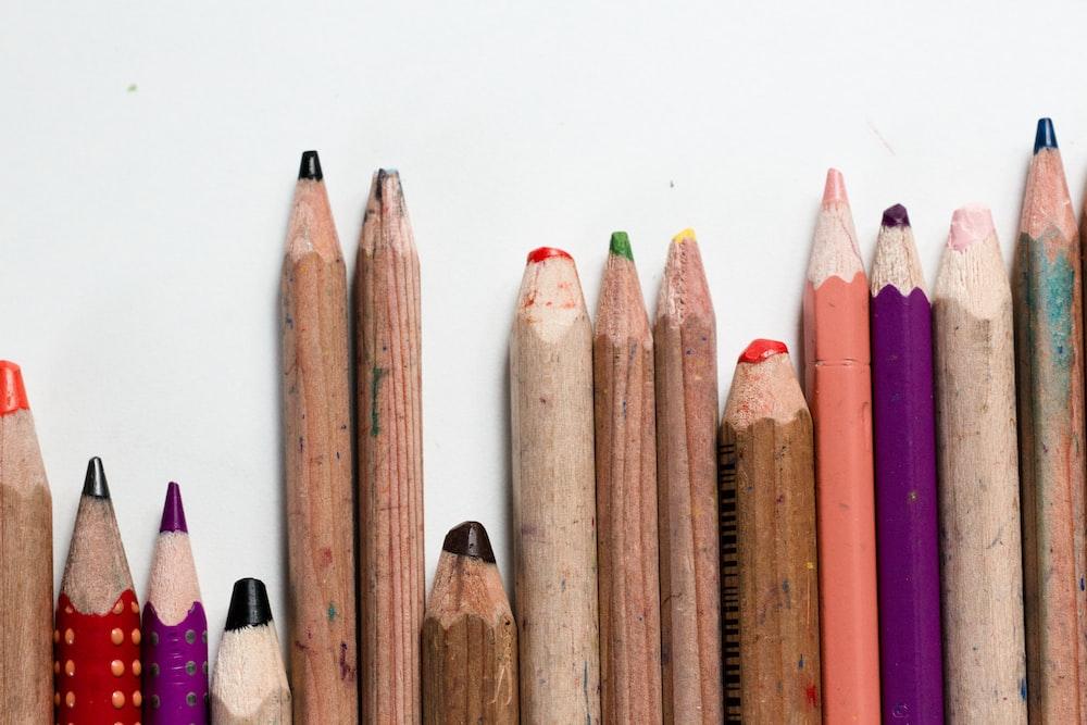 close-up photo of color pencil