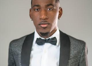 man wearing black bowtie