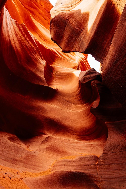 orange rock crevices