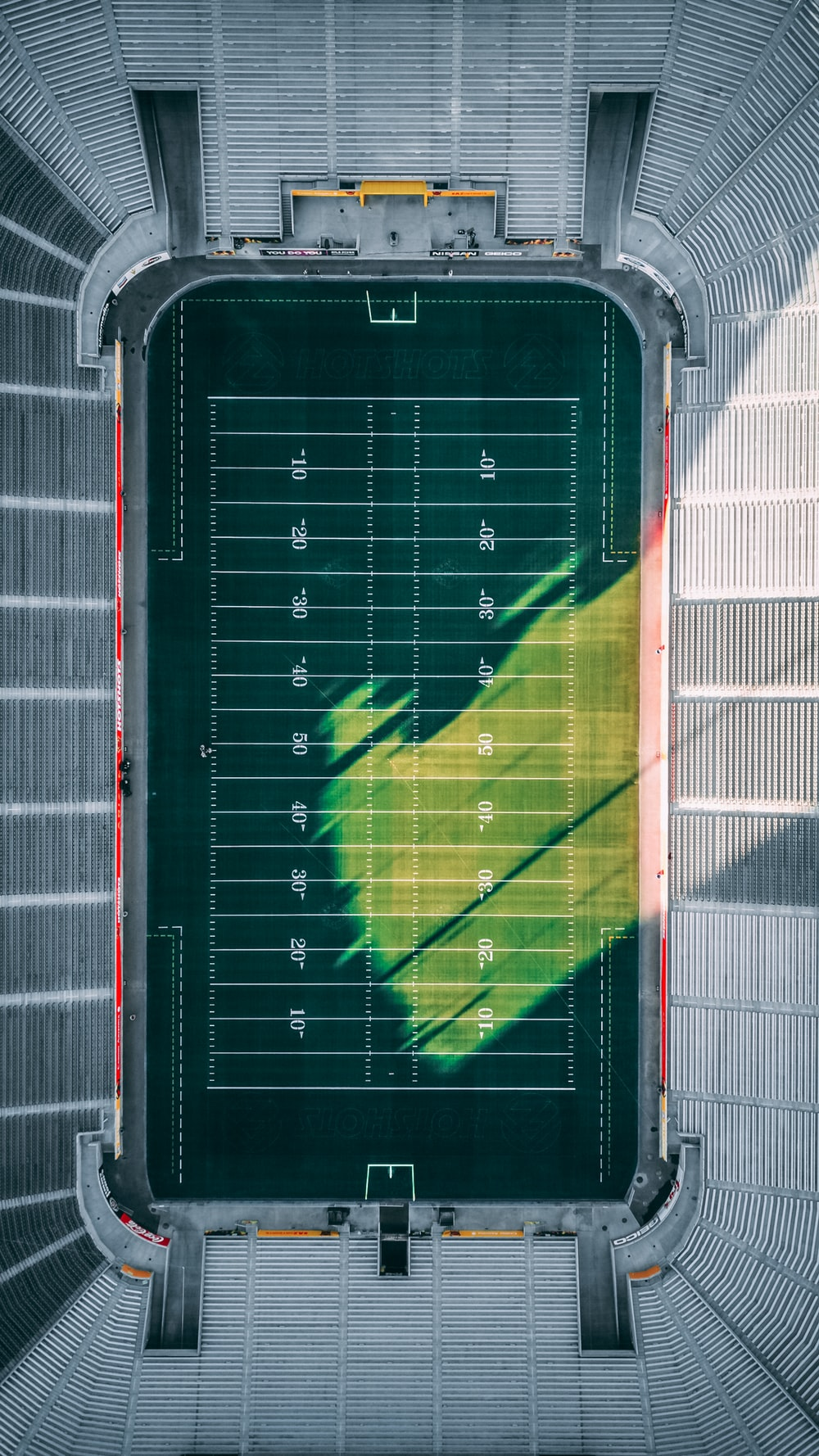 aerial photo of football field during daytime
