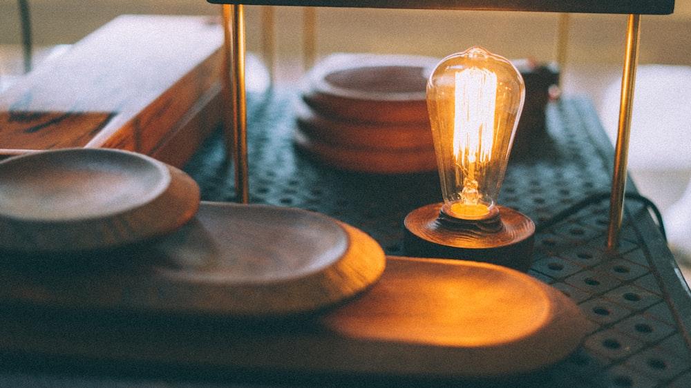 brown lightbulb
