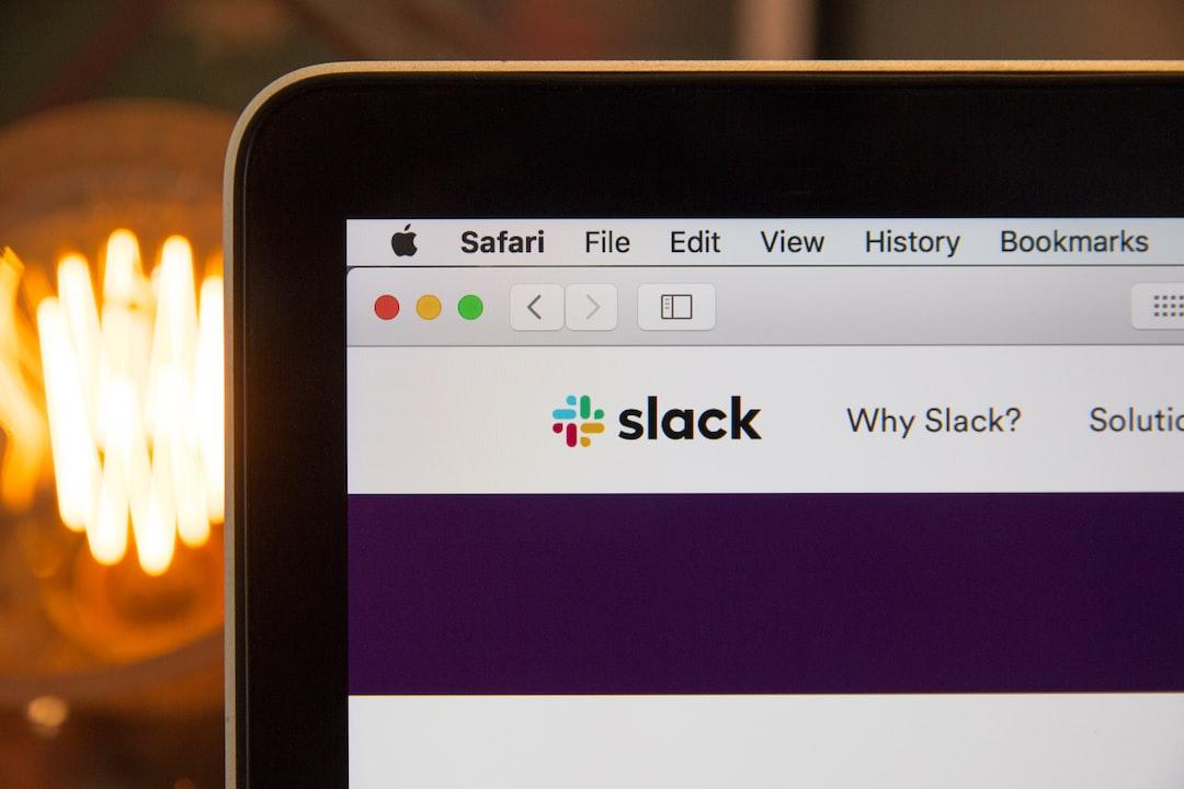 Slack used on Safari