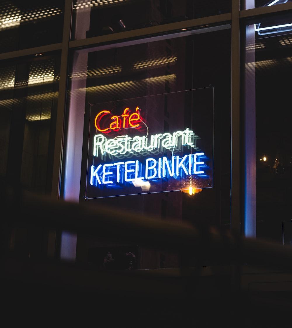 Cafe Resturant Ketel Binkie neon signage