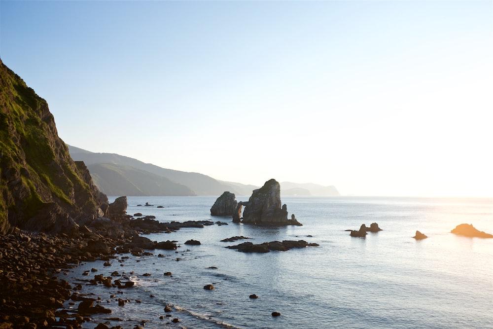rock formations on seashore