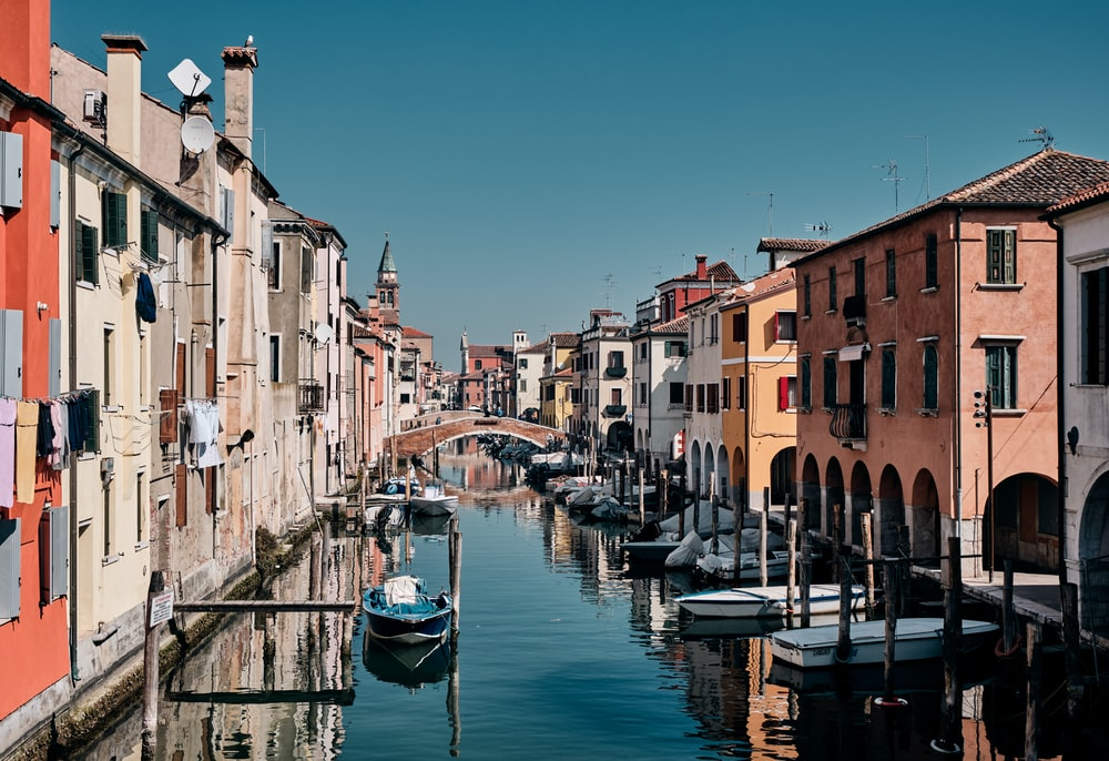 landscape photo of a Venice canal