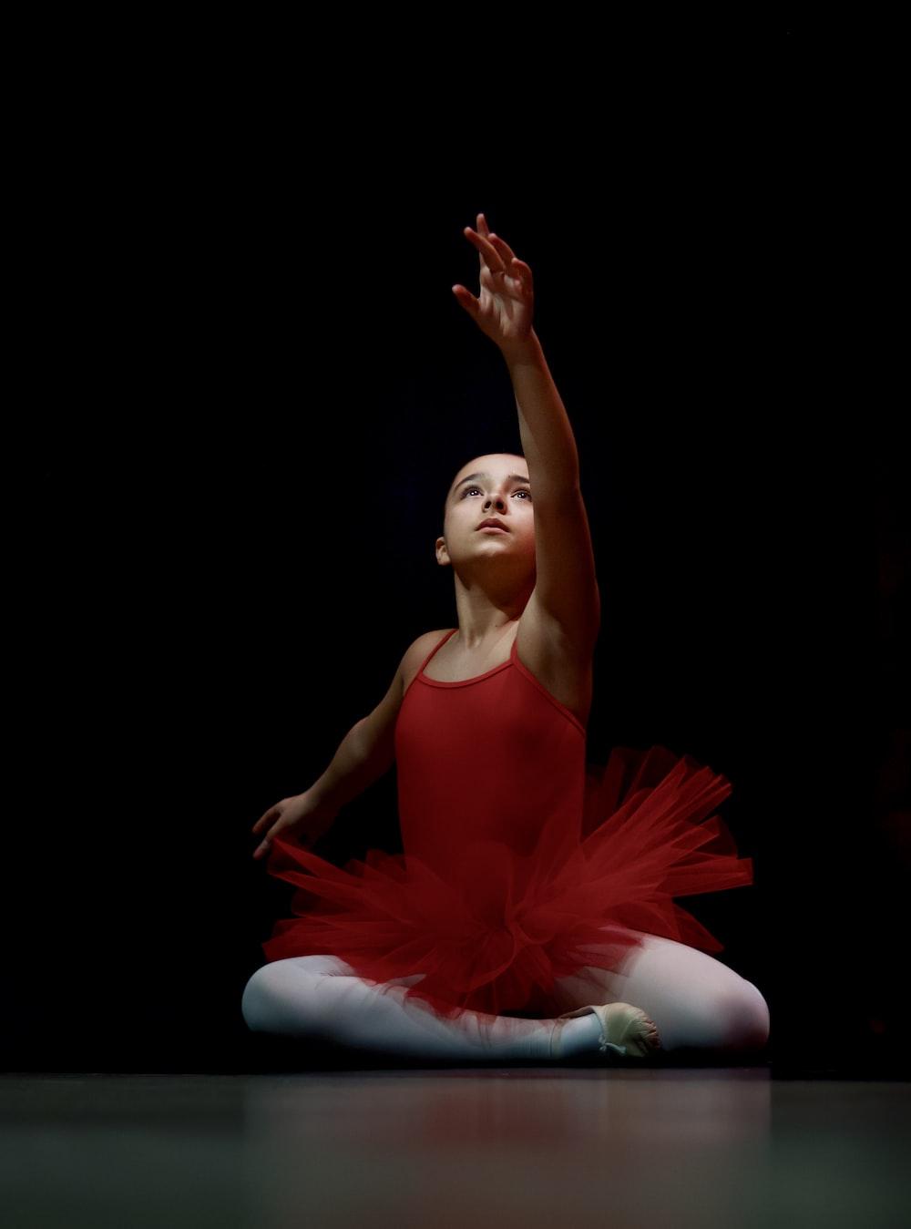 ballerina in red dress