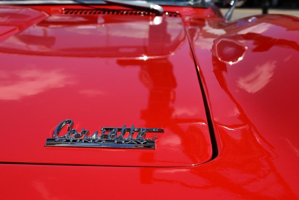 gray Chevrolet Corvette emblem