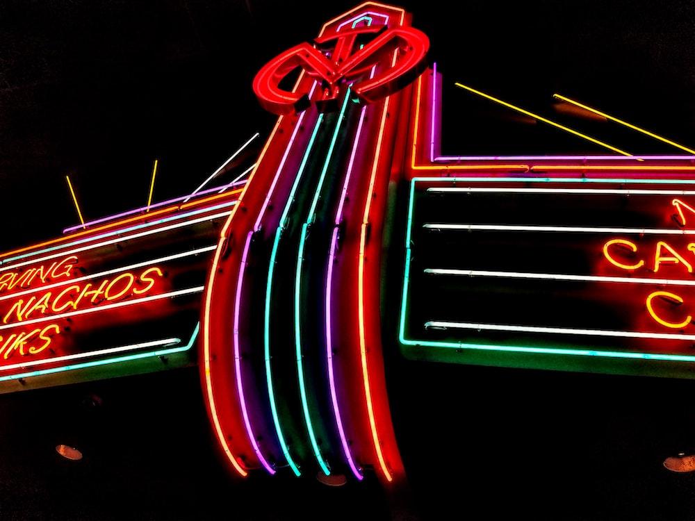 lighted neon light signage