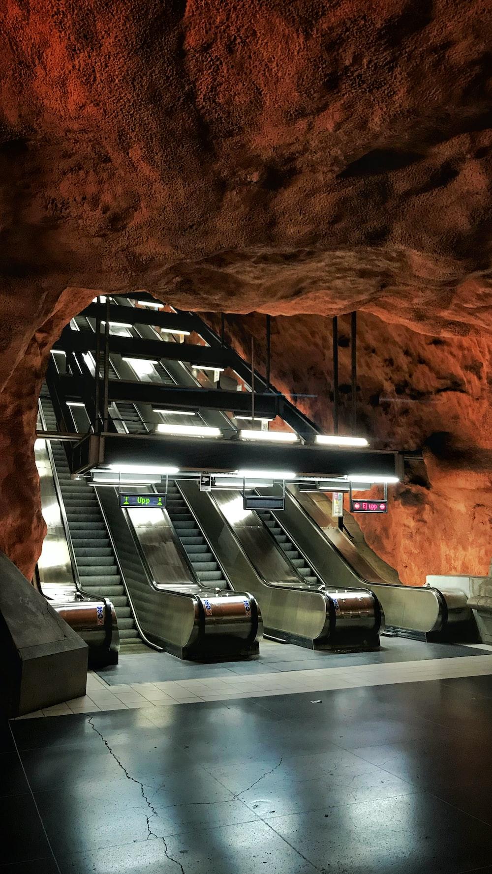 silver escalator undergroud