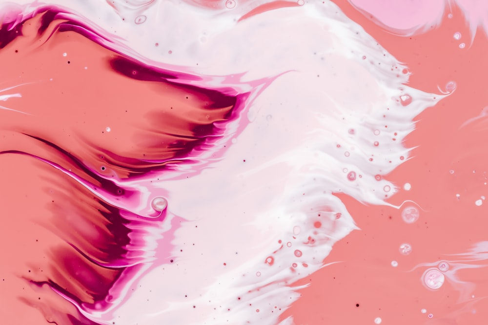 pink and white artwork