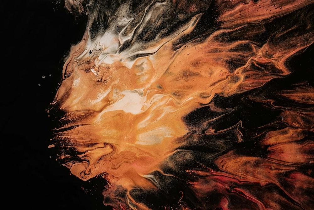 orange and white smoke