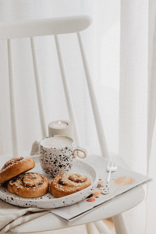 bread on white tray