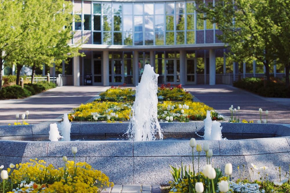 outdoor fountain near building