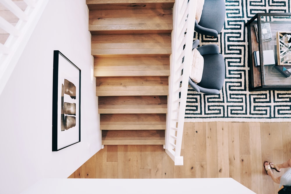 brown wooden stairs