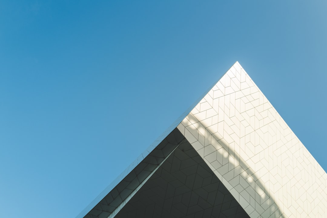 The apex of the facade on the Eye Film Museum in Amsterdam Noord.