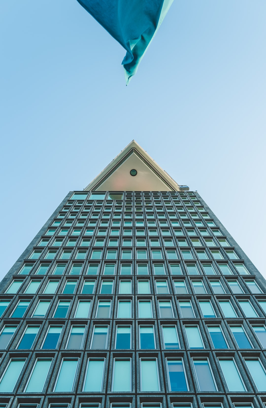 Looking up at the top of the A'DAM tower from the street below.