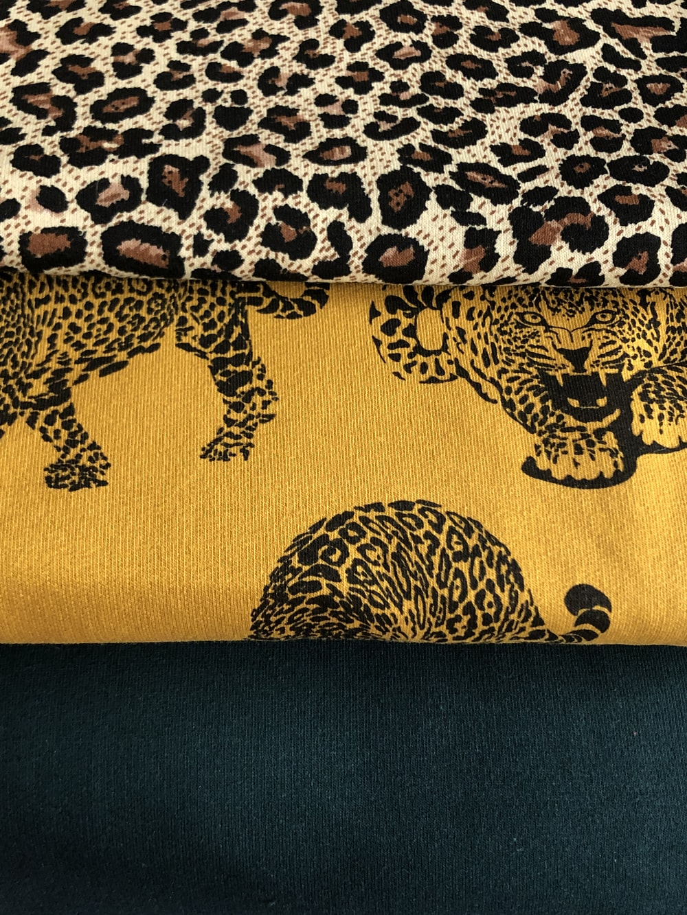 brown and white leopard fabric
