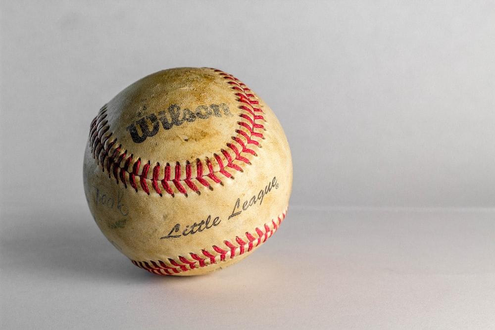 white Wilson baseball