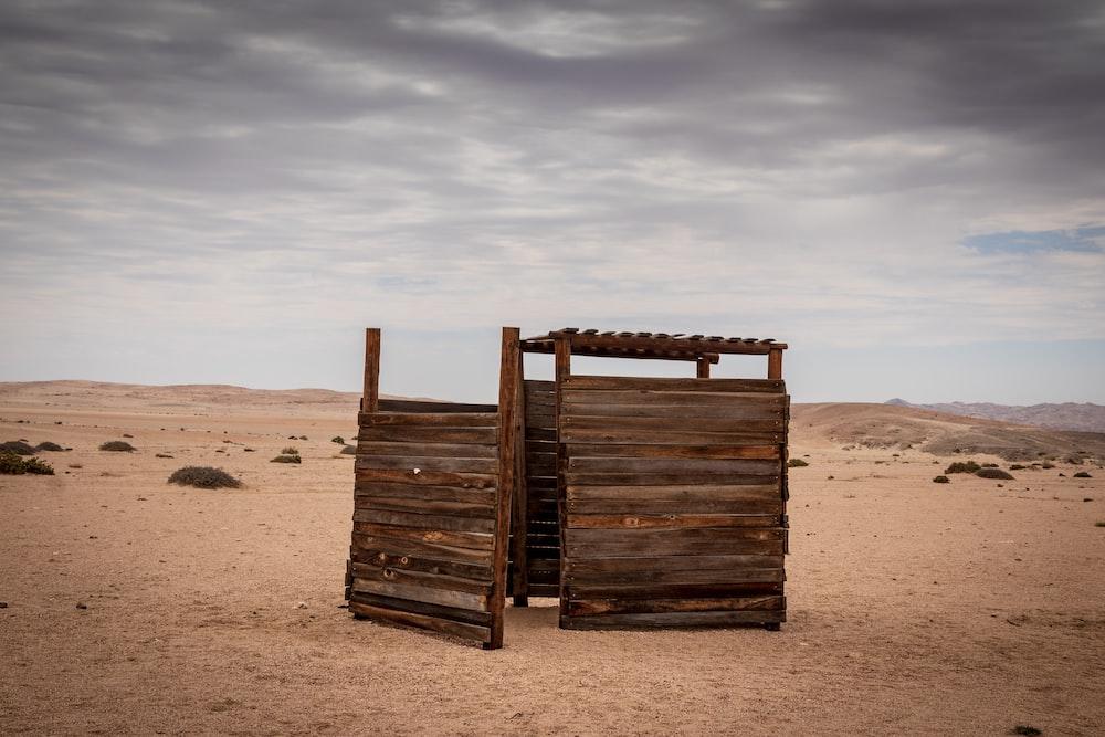 brown wooden portalet