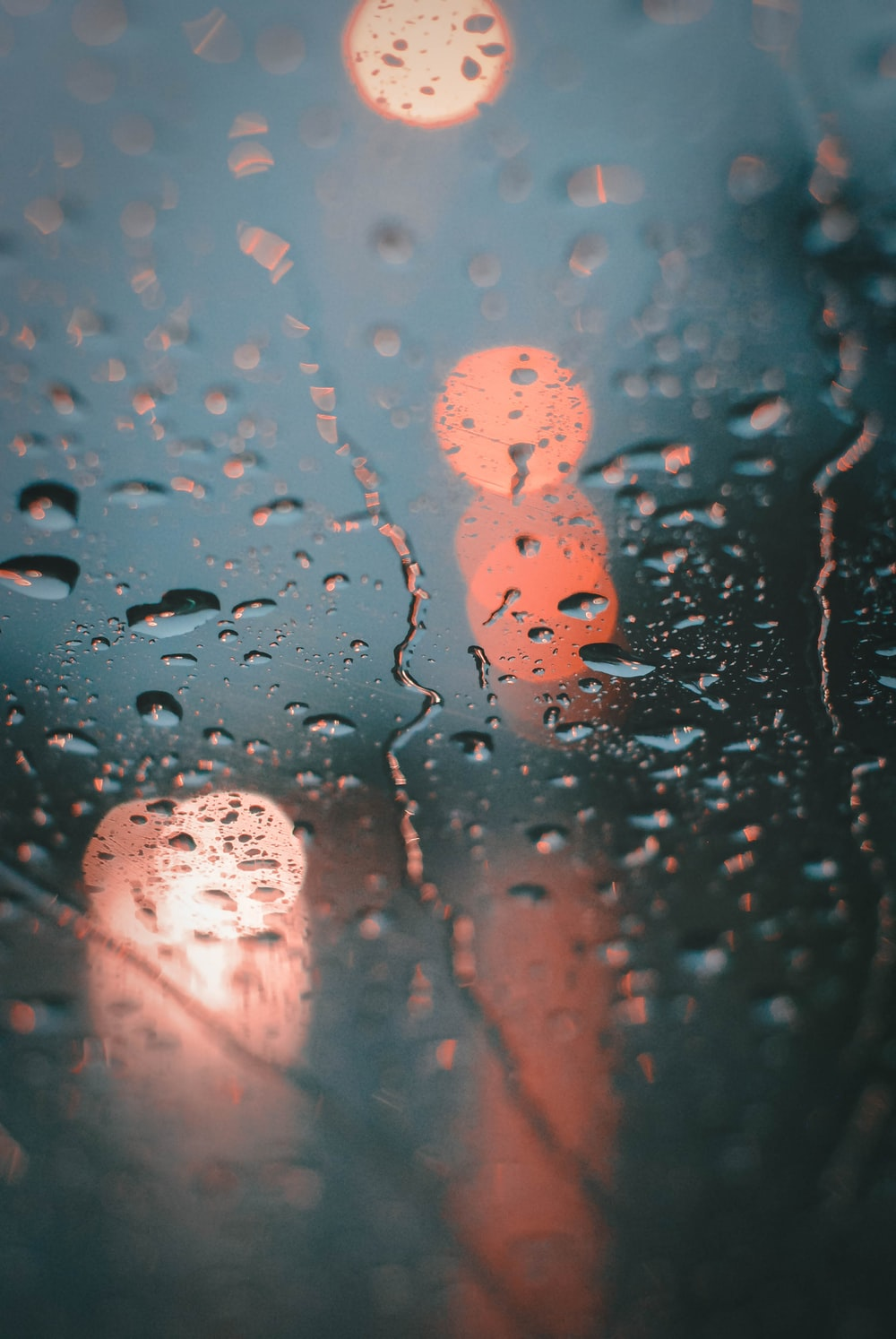 water droplets on glass