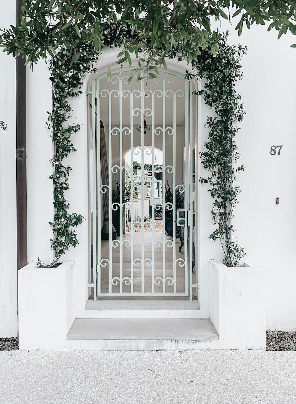 closed white gate