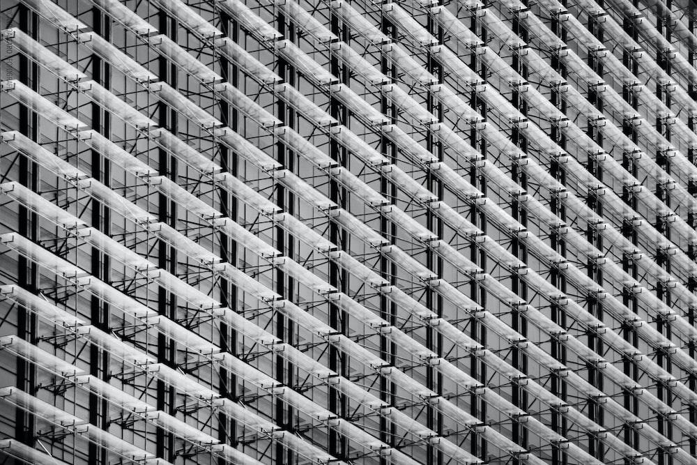 gray building trusses