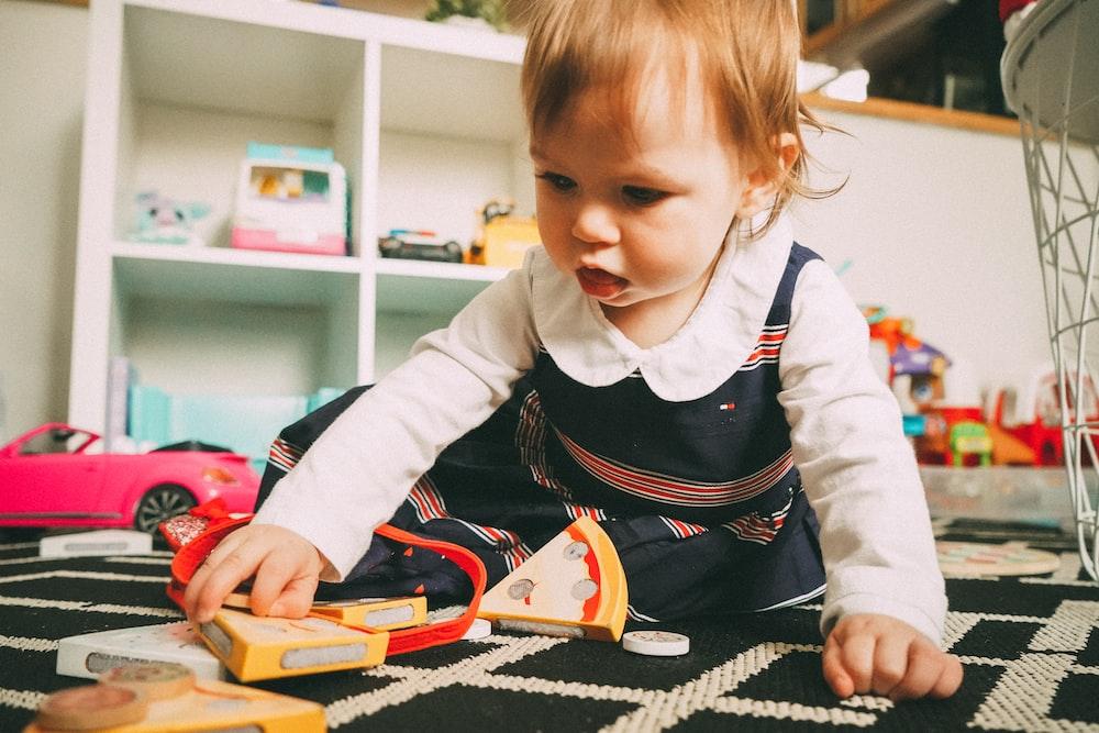 toddler playing toy