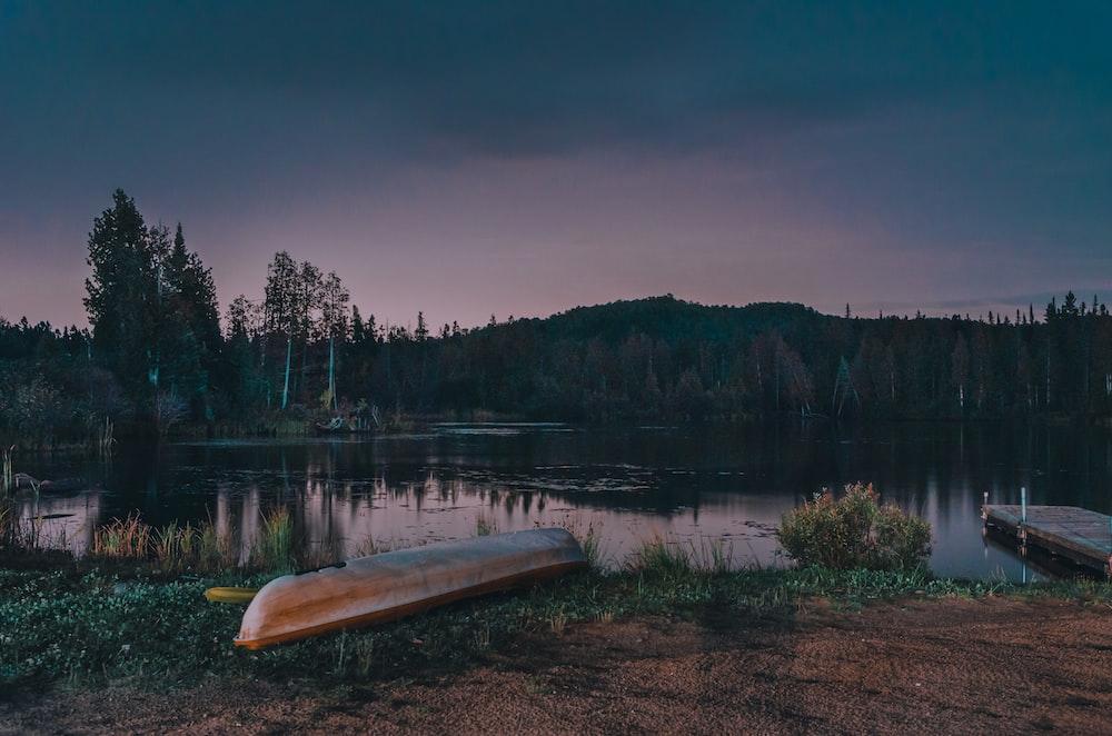 boat near lake