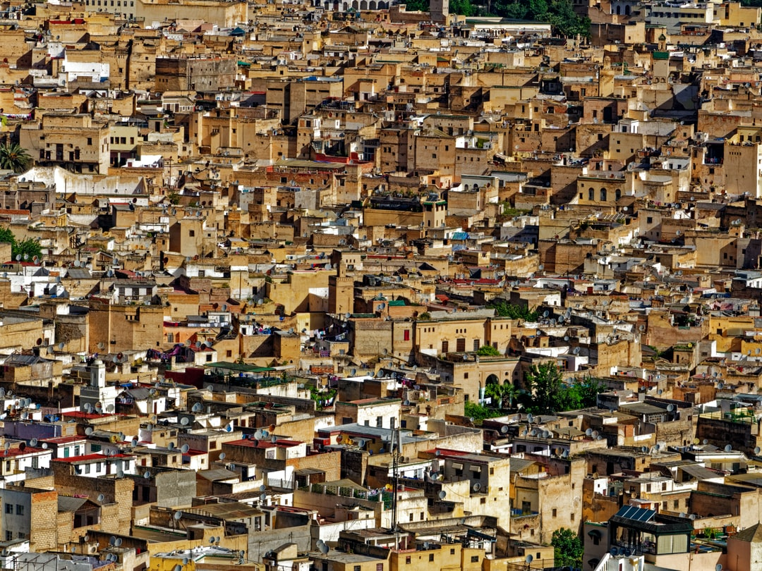 Fez city of Morocco in the afternoon sunlight