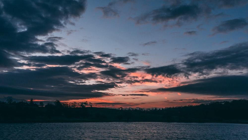 panoramic photography of lake during sunset
