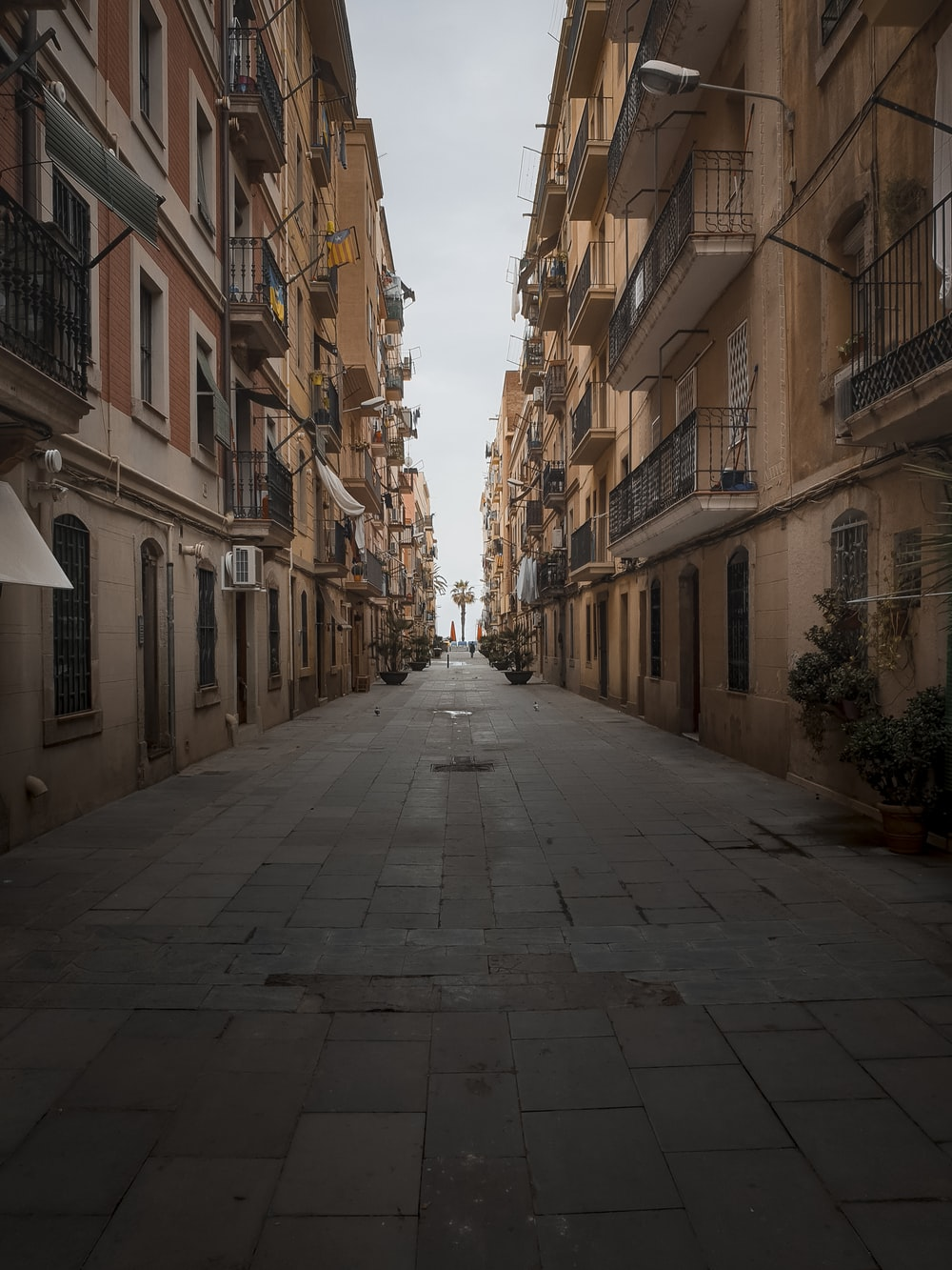 narrow pathway between houses