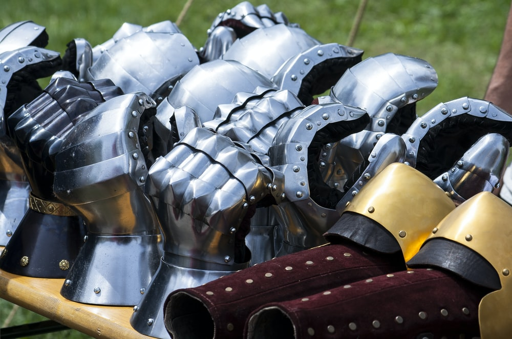 gray stainless steel armor costume