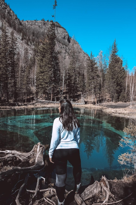 woman near lake