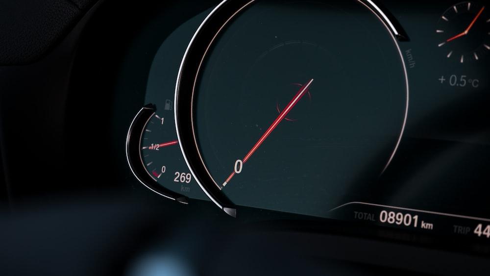 black dashboard