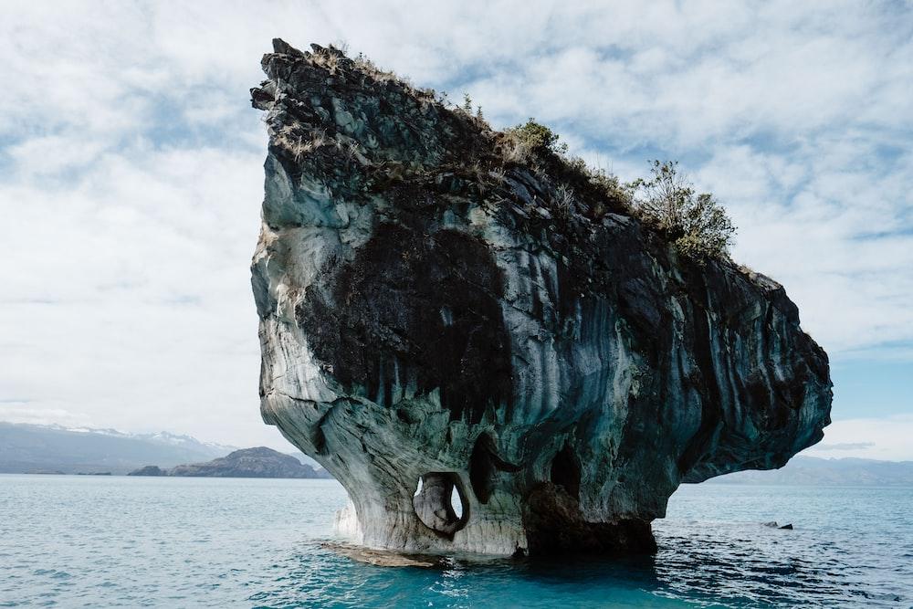 rock near ocean