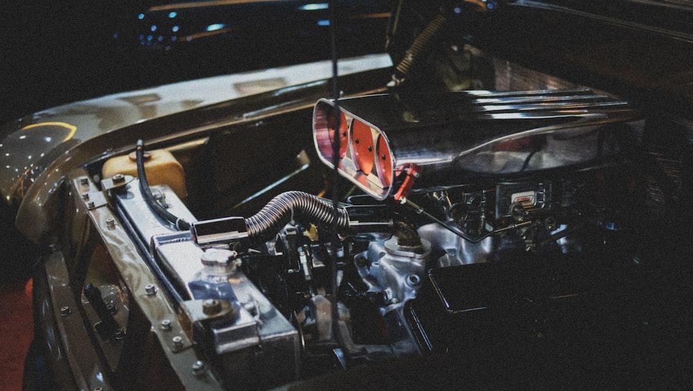 grey vehicle engine system